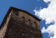 Georgië, Svaneti-torens in bergen Royalty-vrije Stock Foto's