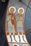 Georgia-Тбилиси Маленькая церковь нет далеко от большой церков троицы Святого - Sameba Стоковые Изображения