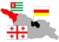 Georgia,Abkhazia,Soutn Ossetia Stock Images