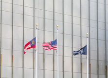 Georgia American and MIA Flags Royalty Free Stock Images