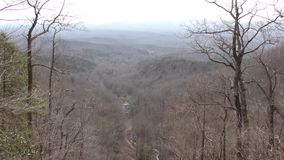 Georgia, Amicalola Falls, A view of the Appalachian Mountains from the top of the Falls. This is a view of the Appalachian Mountains from the top part of stock video footage
