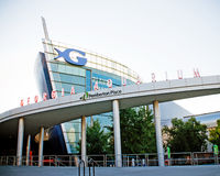 Georgia Aquarium facade in Atlanta Royalty Free Stock Photos