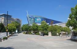 Georgia Aquarium und im Stadtzentrum gelegenes Stockfoto