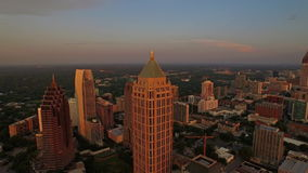 Georgia Atlanta aérea almacen de metraje de vídeo