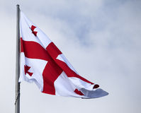 Georgia bandery Obrazy Royalty Free