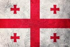 Georgia bandery crunch Gruzja flaga z grunge teksturą Zdjęcie Stock