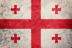 Georgia bandery crunch Gruzja flaga z grunge teksturą Obraz Royalty Free