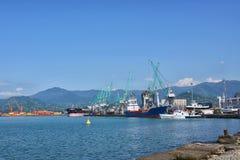 Georgia Batumi harbor Seaport Black Sea coast Stock Photos