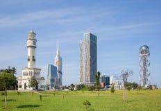 Georgia, Batumi, neues und Altbauten Lizenzfreie Stockfotografie
