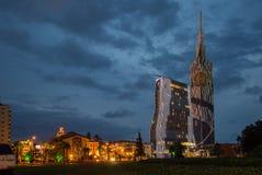 Georgia, Batumi, neues und Altbauten Lizenzfreies Stockfoto