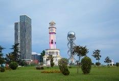 Georgia, Batumi, neues und Altbauten Lizenzfreie Stockfotos