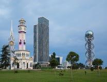 Georgia, Batumi, neues und Altbauten Stockbild