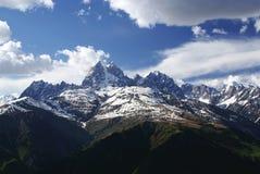 Georgia berg i sommartid Arkivbilder