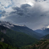 Georgia berg i sommartid Royaltyfria Bilder