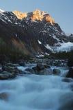 Georgia berg och flod Royaltyfri Foto