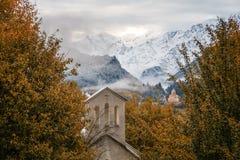 Georgia berg Svaneti och Kazbegi Royaltyfri Bild