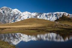 Georgia berg Svaneti och Kazbegi Fotografering för Bildbyråer