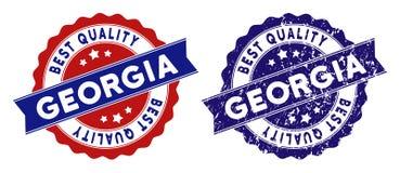 Georgia Best Quality Stamp con effetto di lerciume Fotografia Stock Libera da Diritti