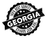 Georgia Best Service Stamp con stile Grungy Fotografie Stock Libere da Diritti