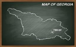 Georgia on blackboard Stock Photography