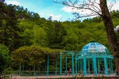 georgia Borjomi - semesterortstad i Samtskhe-Javakheti royaltyfria bilder