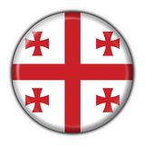 Georgia button flag round shape Royalty Free Stock Image