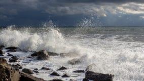 Georgia coast (Black sea) in storm Stock Photography