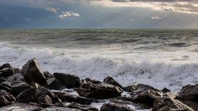 Georgia coast (Black sea) in storm Royalty Free Stock Photo