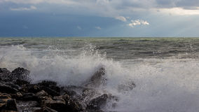 Georgia coast (Black sea) in storm Royalty Free Stock Images