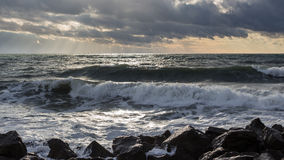 Georgia coast (Black sea) in storm Stock Photos
