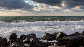 Georgia coast (Black sea) in storm Royalty Free Stock Photography