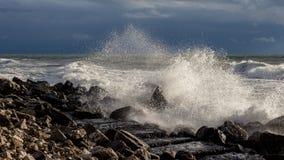 Georgia coast (Black sea) in storm Stock Image