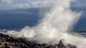 Georgia coast (Black sea) in storm Stock Images