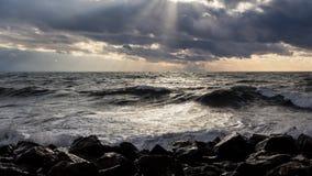 Georgia coast (Black sea) in storm Stock Photo