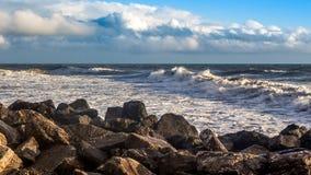 Georgia coast (Black sea) in storm, Poti Royalty Free Stock Photography