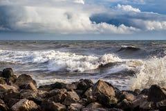 Georgia coast (Black sea) in storm, Poti Stock Image