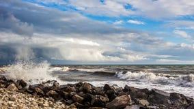 Georgia coast (Black sea) in storm, Poti Royalty Free Stock Photo