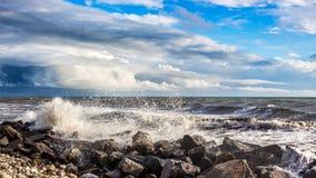 Georgia coast (Black sea) in storm, Poti Stock Photo