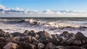 Georgia coast (Black sea) in storm, Poti Royalty Free Stock Image