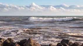 Georgia coast (Black sea) in storm, Poti Stock Photography