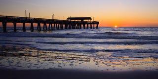 Georgia Coast Sunrise Panorama photographie stock