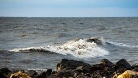 Georgia coast (Black sea) in storm, Poti Stock Photos