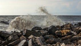 Georgia coast (Black sea) in storm, Poti Royalty Free Stock Photos