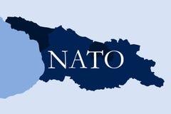 Georgia come membro dell'alleanza di NATO illustrazione vettoriale