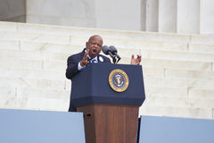 Georgia Congressman John Lewis. Speaks during the Let Freedom Ring ceremony at the Lincoln Memorial August 28, 2013 in Washington, DC, commemorating the 50th Royalty Free Stock Photo