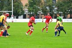 Georgia contro la Romania nel rugby 7 serie del Gran Premio a Mosca fotografia stock libera da diritti