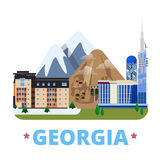 Georgia country design template Flat cartoon style. Georgia country design template. Flat cartoon style historic sight showplace web site vector illustration Stock Photo