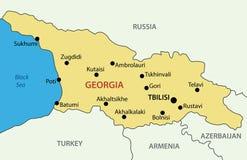 Georgia country - vector map Royalty Free Stock Photos