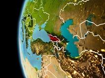 Georgia da spazio nella sera Fotografie Stock