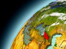 Georgia de la órbita de Earth modelo Imagenes de archivo